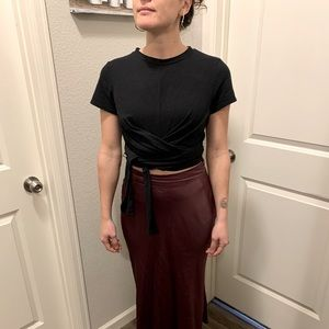 Reese Cropped Wrap Top